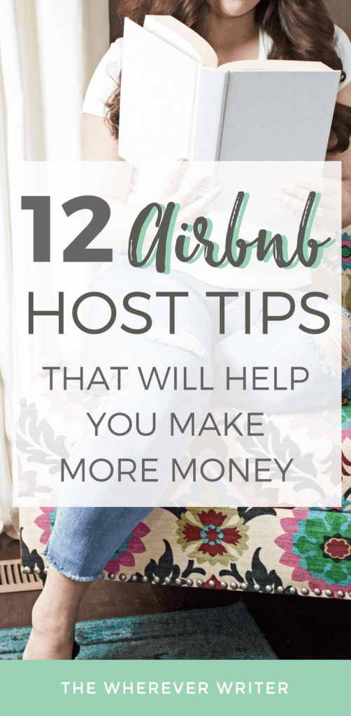 Airbnb host tips Pinterest image