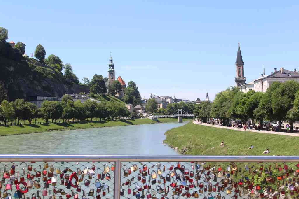 Eastern Europe Itinerary - Salzburg from the bridge