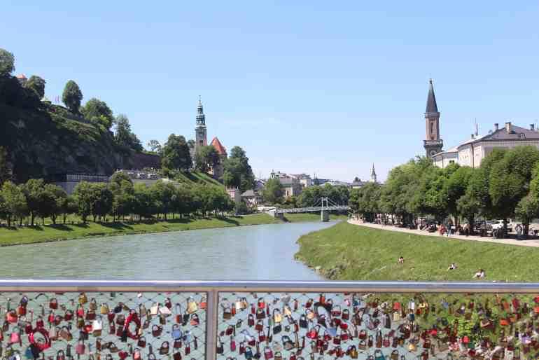 Eastern Europe Itinerary - Salzburg from the bridge
