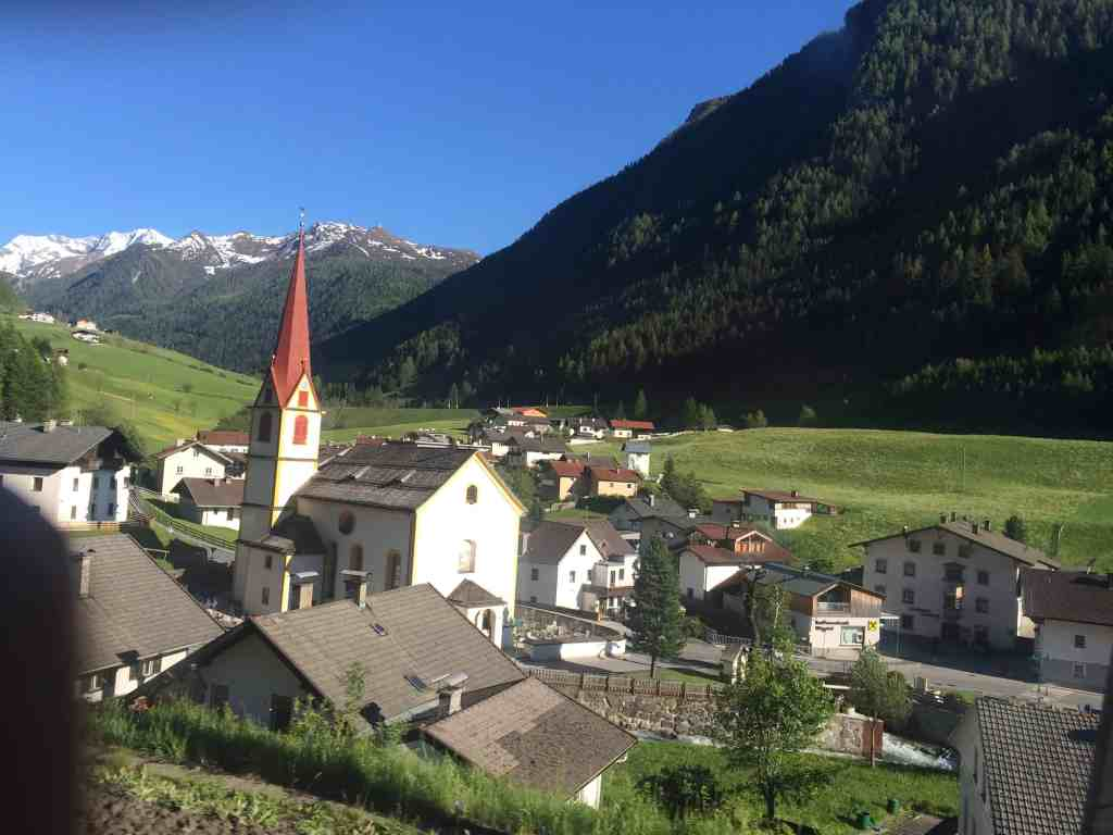 Eastern Europe Itinerary - The view from the train from Venice to Salburg via Innsbruck
