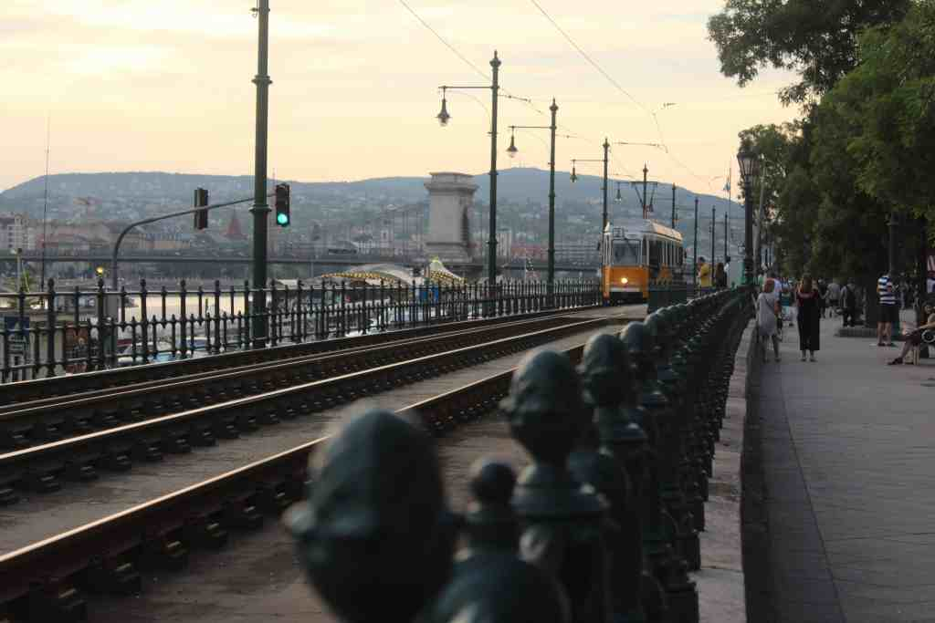 Eastern Europe Itinerary - Tram along the Danube in Budapest