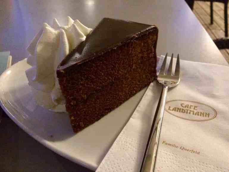 2 Days in Vienna - Cafe Landtmann Sacher Torte