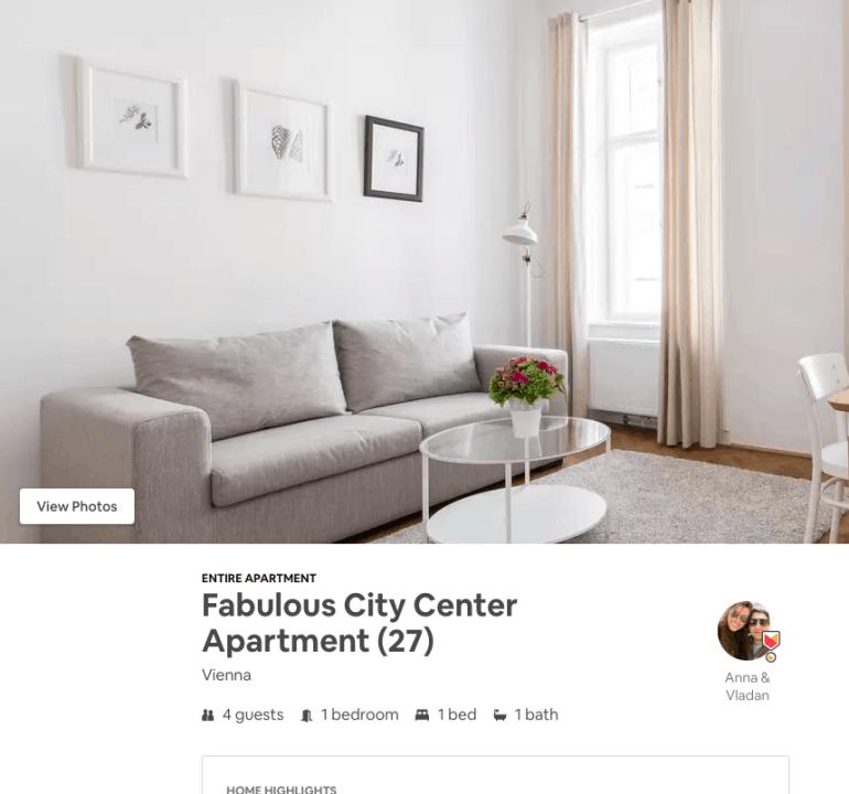 2 days in vienna - one-bedroom airbnb in vienna