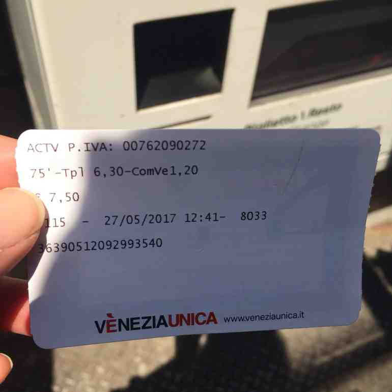 How to Take the Vaporetto in Venice - Vaporetto ticket from machine