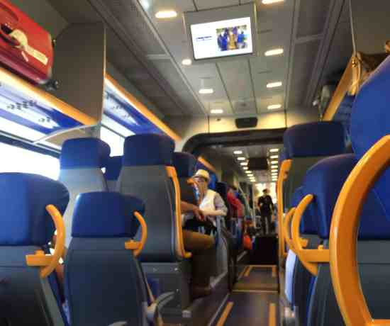Leonardo Express Airport Train - Inside the Leonardo Express train