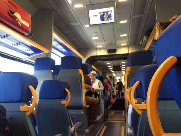 Leonardo Express Airport Train - Inside the Leonardo Express train