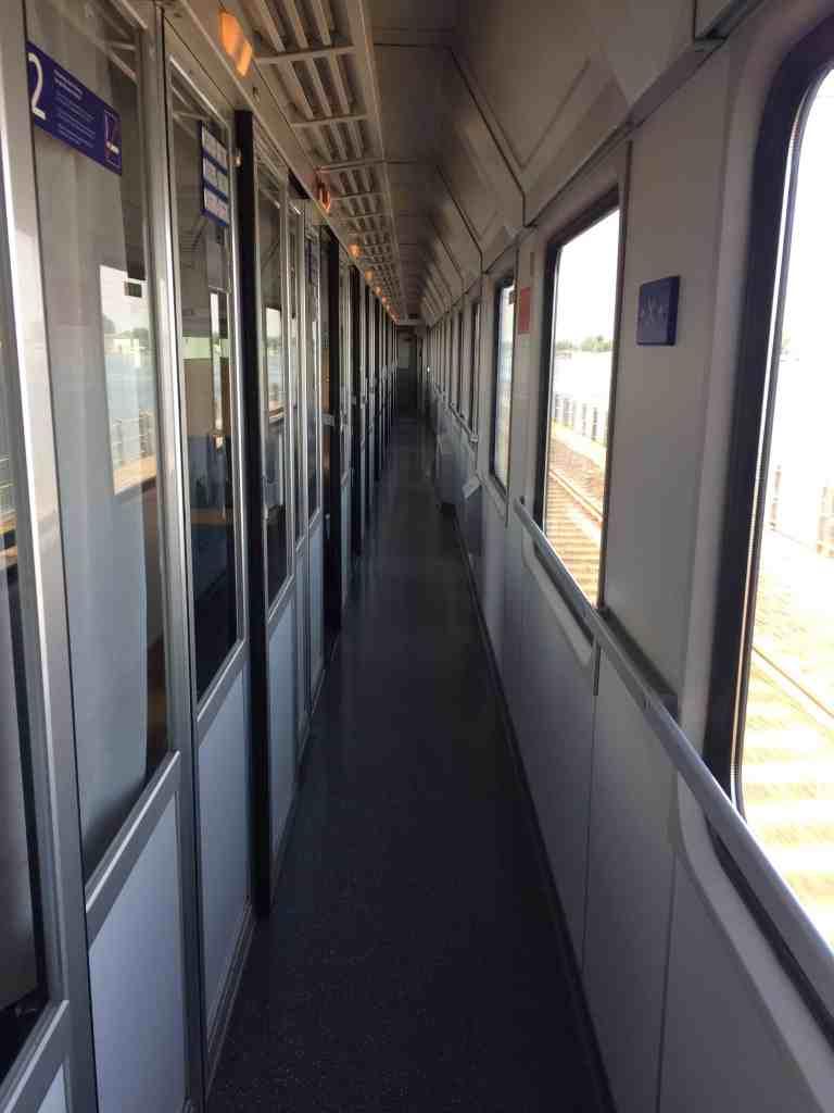 Venice to Salzburg OBB train compartments