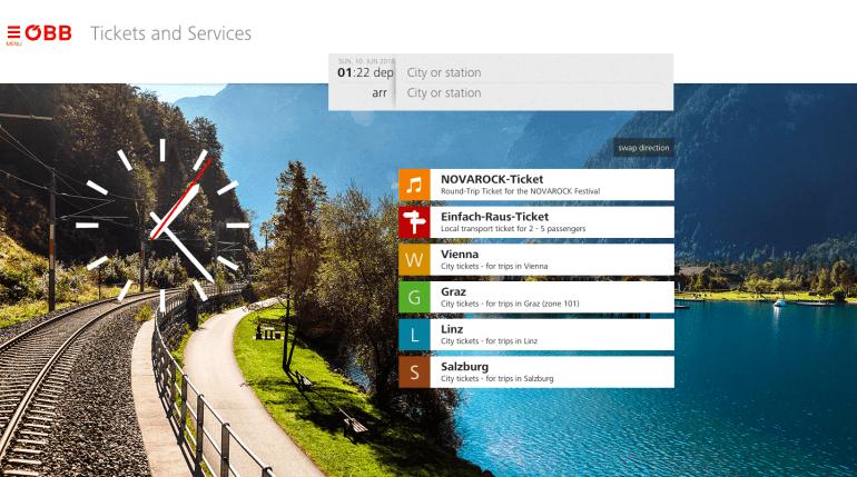 train from venice to salzburg: OBB website