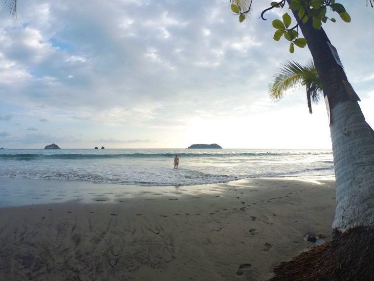 Espadilla Beach at sunset