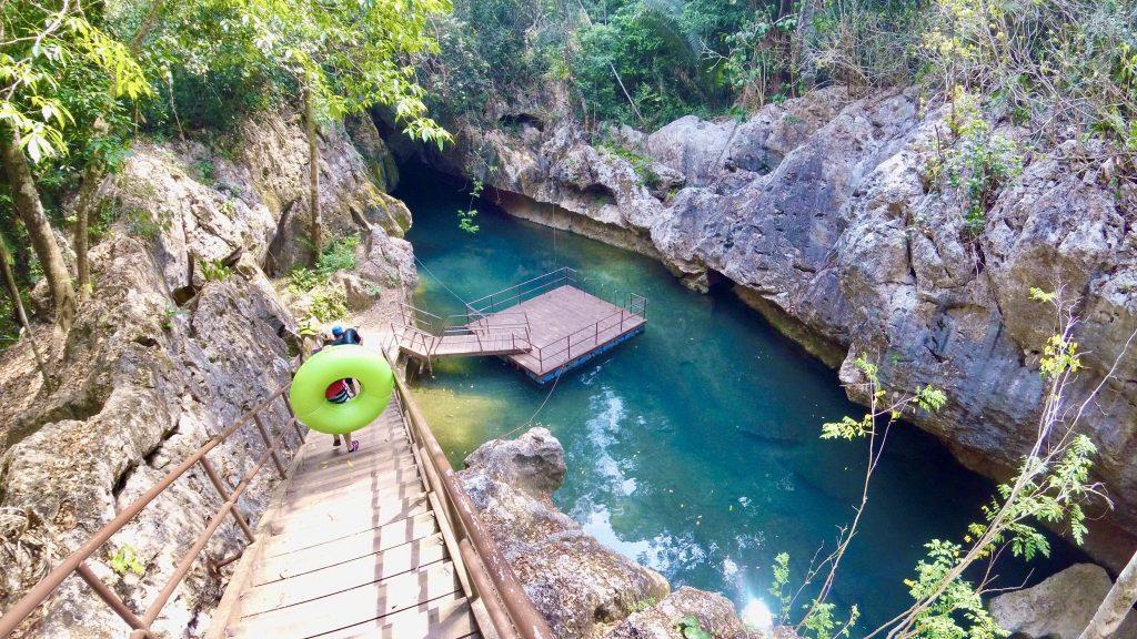 Mopan River cave tubing in San Ignacio, Belize.