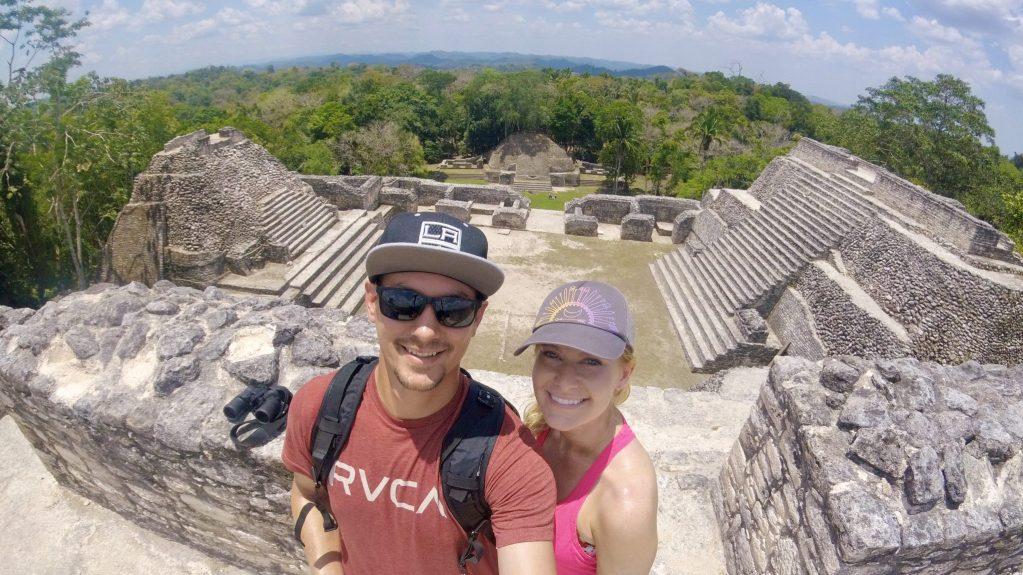 Top of Caracol Ruins in San Ignacio, Belize.