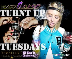 Come get turnt up and get your wings to take you to the next level every Tuesday when we get TURNt UP!!! ❢❞♬─╤╦︻∆$☮ To ensure your night is TURNt past max for a Tuesday KAV1ANI will be in the building. KAV1ANI (Charleston, Dirty Jerz/Philadelphia) On the rise as one of the top DJs in his stomping grounds circuit, KAV1ANI picked up a lot of flavor after his move from the Philadelphia & South Jersey metro area to the Southeast where gritty booty shaking 808 bass carries the crown and reigns supreme. With his expansive range of immersive jet set tech-house club sound bangers to the funkiest of funkstep and beyond when duty calls, to the trillest of twerk bounce trapville, KAV1ANI connects and delivers to his audiences exactly what they want to groove to in non stop motion. [electronic/funk/house/disco/moombah/trill/glitch/twerk/ future bass/trap/hip-hop/throwbacks/TOP40 mashes] CHECK OUT THE EVENT WALL AND TURNt UP page for pictures from the event series so far so you know what will be going down when we throw revs into the red and TURN UP! COME IN FOR UNBEATABLE DRINK SPECIALS TO GET THE GEARS GREASED!!! https://www.facebook.com/TURNtUPuSa