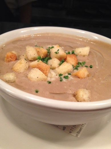 Mushroom Parmesan Bisque from chef Jacques Larson of Wild Olive