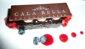 Cala Bella chocolate dessert