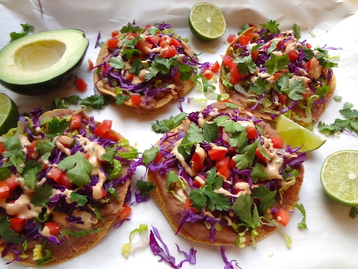 7 Layer vegan Tostadas