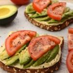 Hummus and Avocado Toast