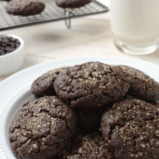 Double Chocolate Brownie Cookies – vegan