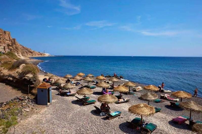 Eros Beach Santorini