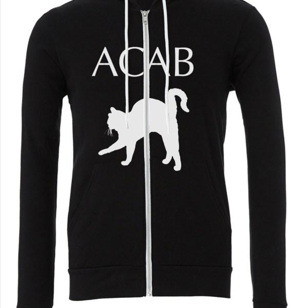 ACAB-Cat-Black-Zipper-Hoodie-FRONT