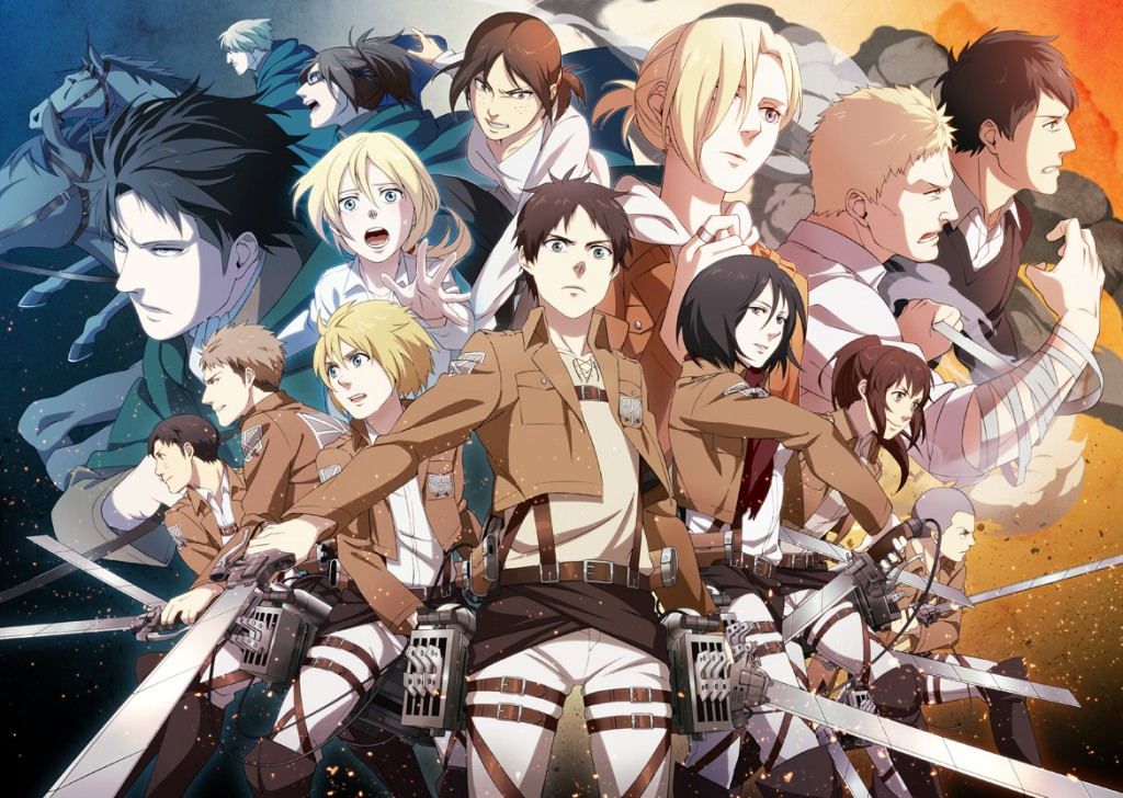 The entire cast of Attack on Titan
