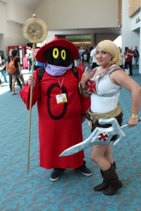 Crossplayed He-Man and Orko