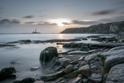 St Mary's Lighthouse from Curry's Point