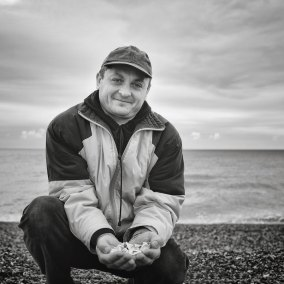 Collecting Shells on Hastings Beach