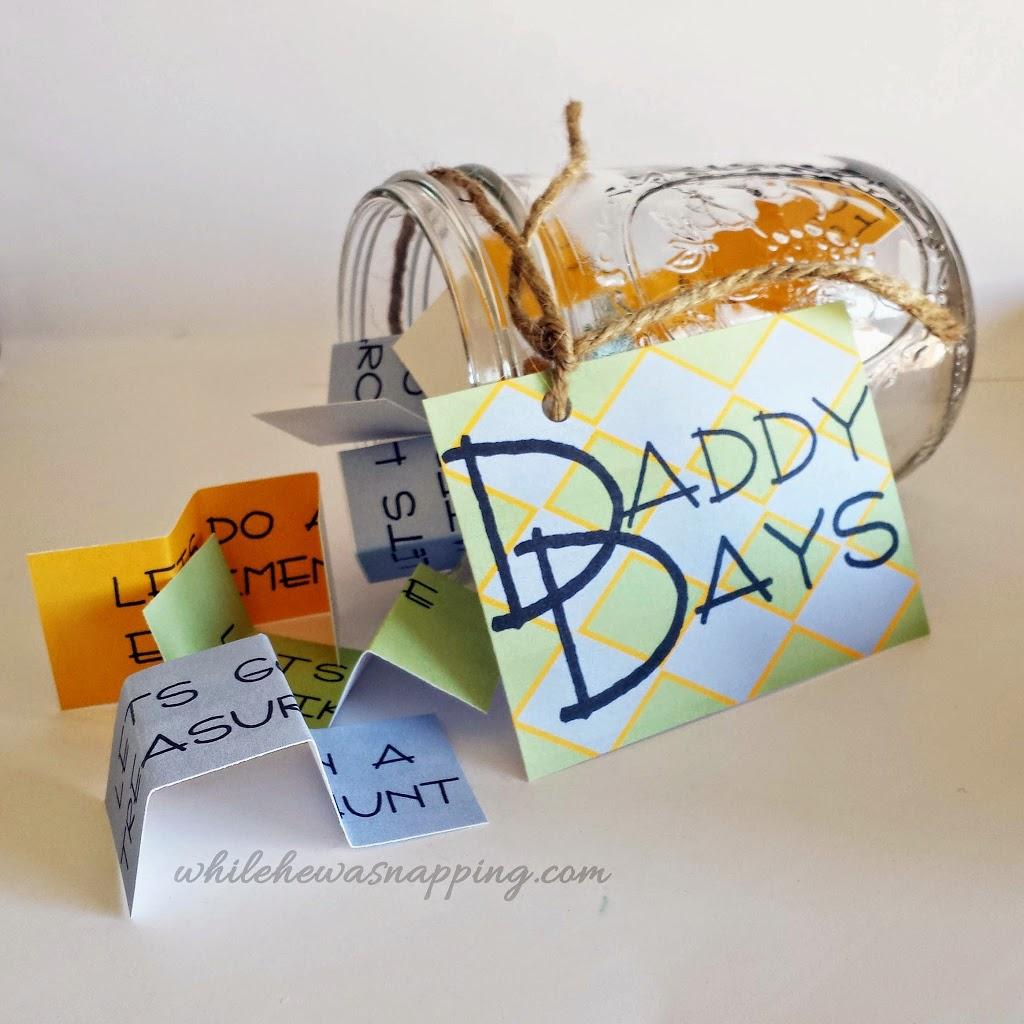 Printable Daddy Days Daddy Date Jar