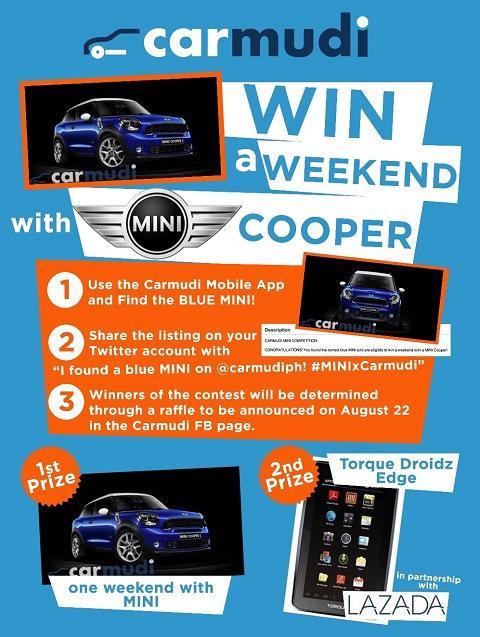 Ride a Mini Cooper for a Weekend through Carmudi PH