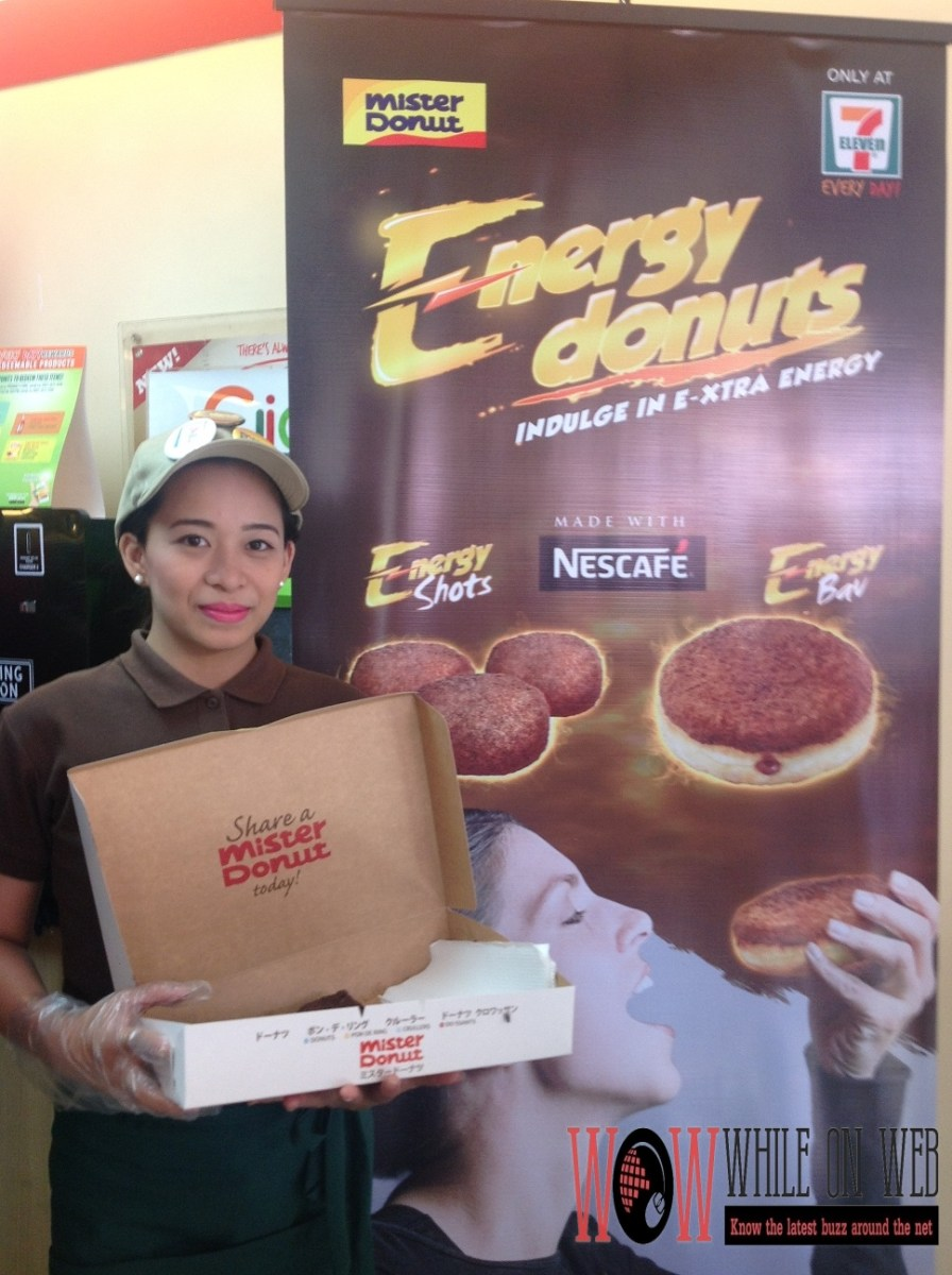 Boost your energy--the Mister Donut way!
