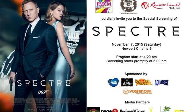 SPECTRE Blocked Screening at Resorts World Manila