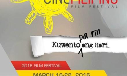 CineFilipino 2016 Screening Schedules