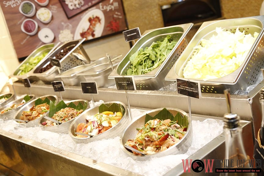 Fresh greens at the Salad Station - A Buffet of Philippine Culinary Heritage at Marriott Manila
