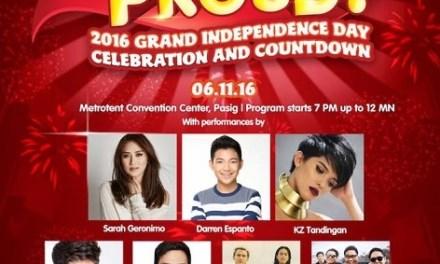 Sarah Geronimo, KZ Tandingan, Rachelle Ann Go joins Jollibee #PinoyandProud Independence Day concert
