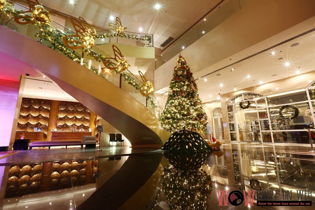 Marriott Manila's magical-and-fairy themed, a 26-foot Christmas tree towers in the middle of the vibrant lobby