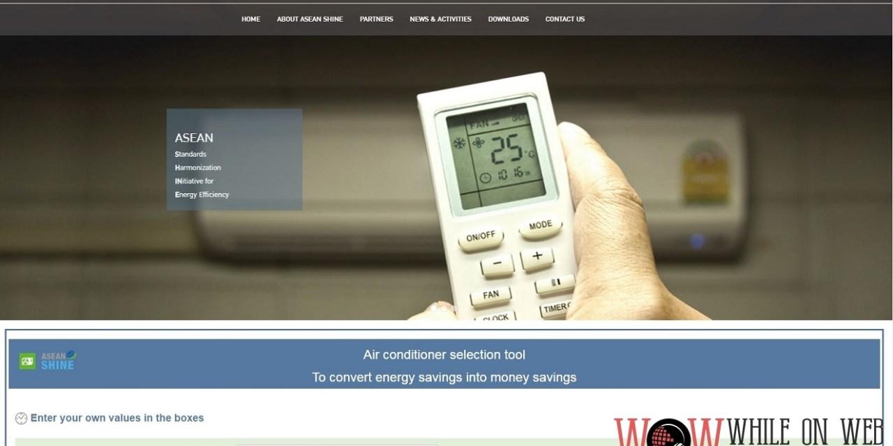 Choose your efficient aircon unit through mobile app by ASEAN SHINE