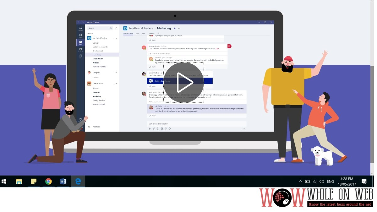 Collaborate in the modern workplace via Microsoft Teams