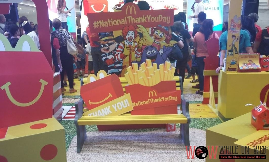 #NationalThankYouDay celebration with SM and McDonald's for new family fun experiences