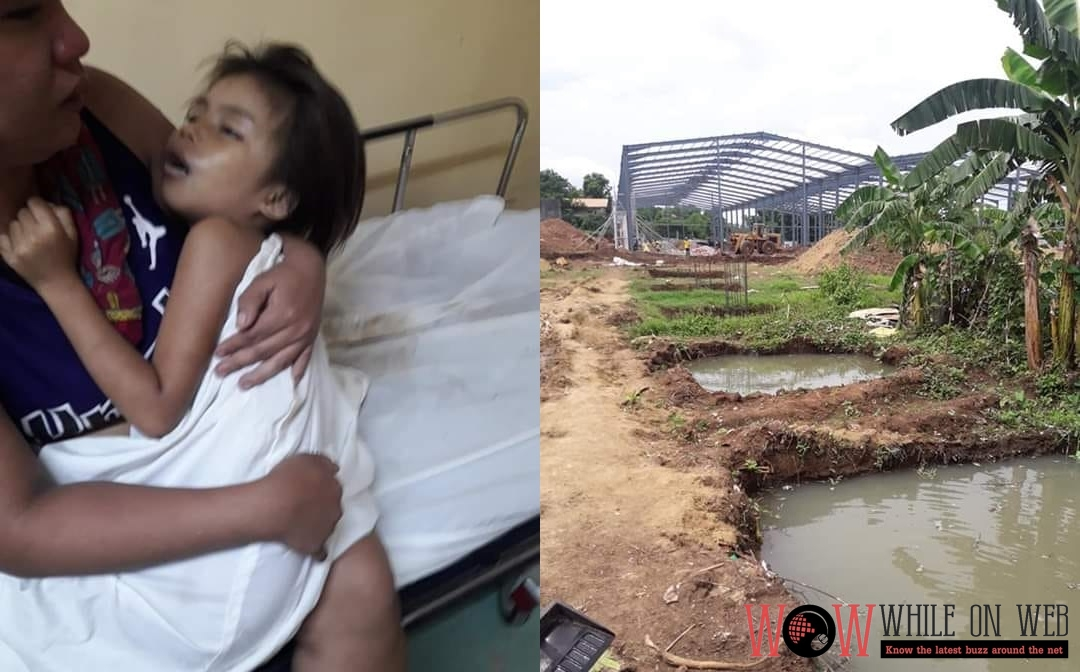 Girl drowns in a construction site in Bulacan