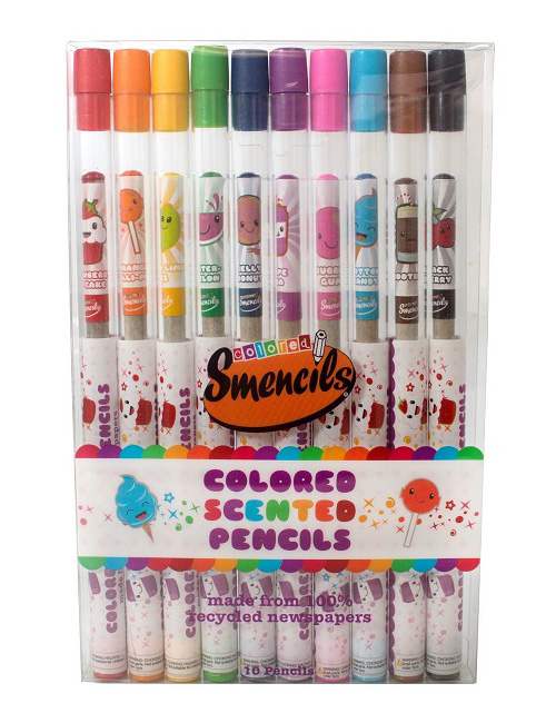 scented pencils, scented pens, kids recycled colouring pencils, kids biodegradable
