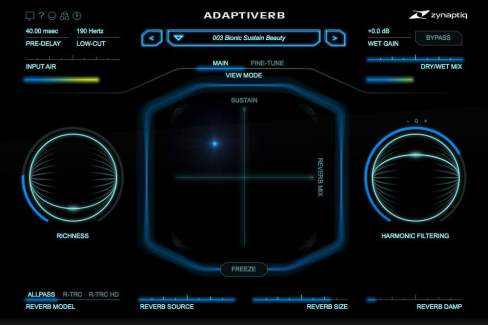 adaptiverb's high quality reverb & synth vst effect