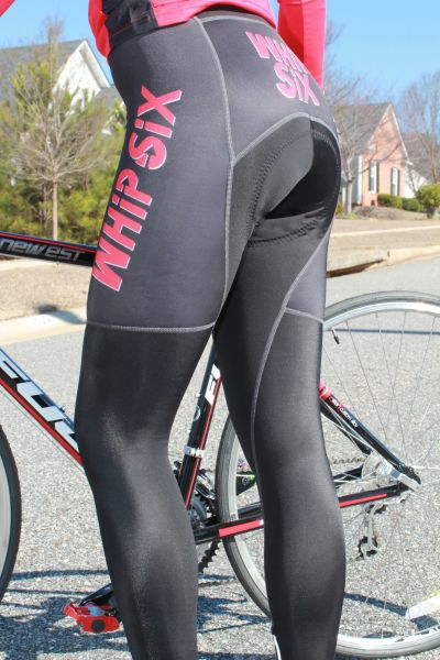 Road Cycling Tights Suarez Custom Whip Six Black Padded Tights Womens Cycling Clothing