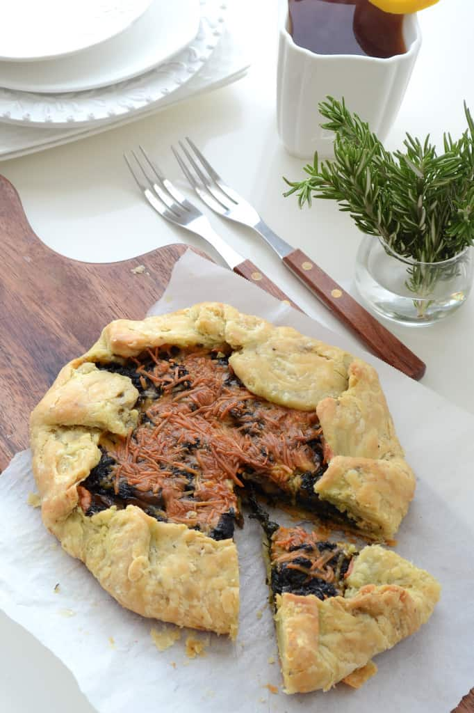 Spinach and Mushroom Galette