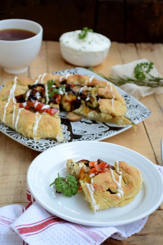 Roasted Vegetable Ricotta Cheese Galette