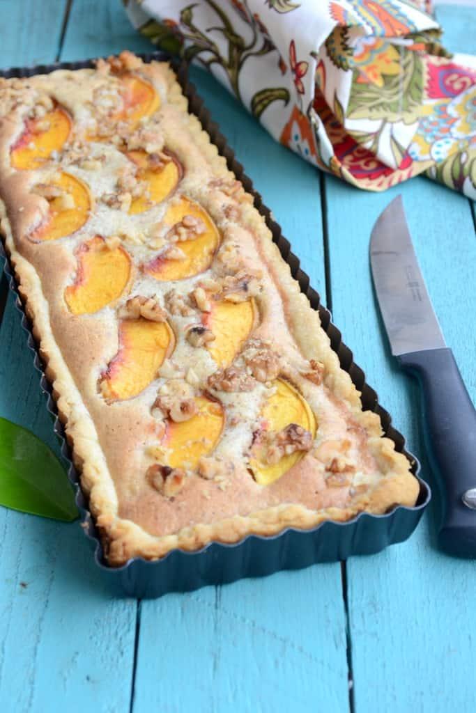 Peach Walnut Frangipane Tart, How to make Peach Walnut Frangipane Tart