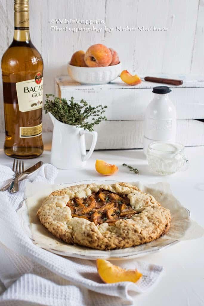 Spiced Peach Rum Galette Recipe, How to make Spiced Peach Rum Galette