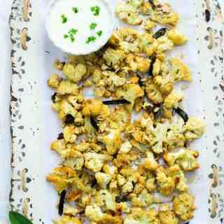 Honey Roasted cauliflower with sage and sunflower seeds