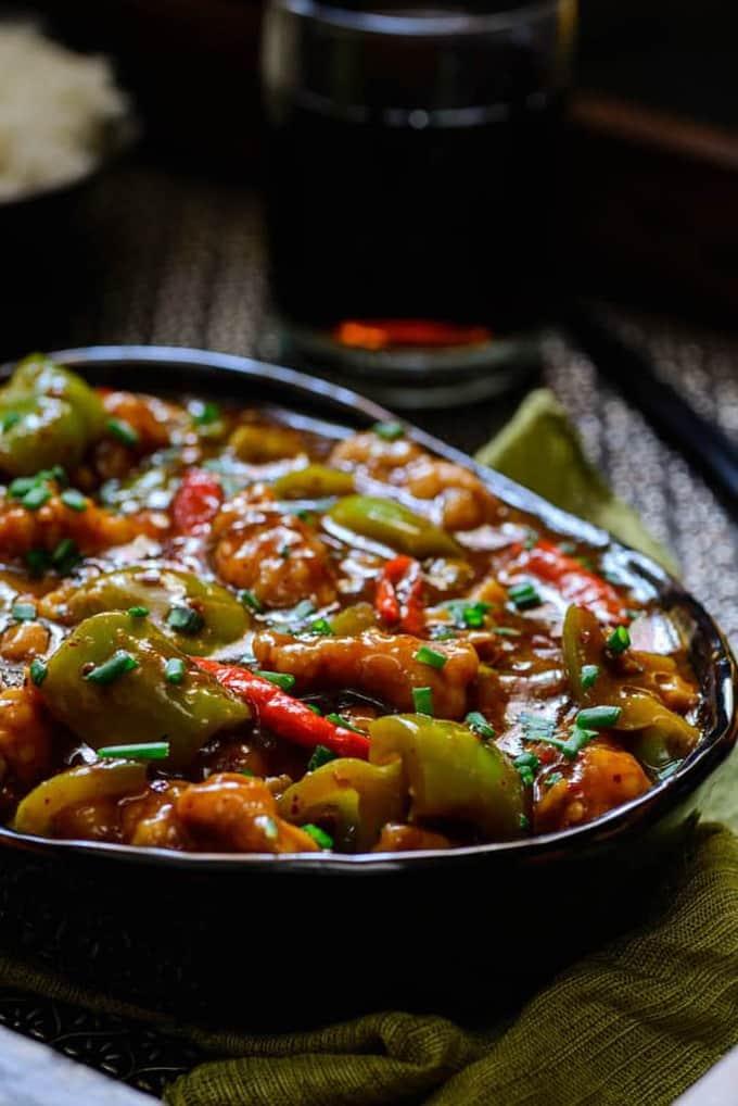 Chilli Garlic Chicken Recipe (Just like your fav ...