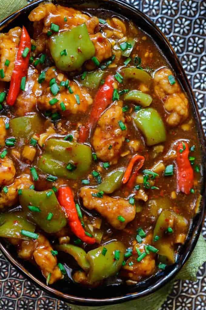 Chilli Garlic Chicken recipe, How to make Chilli Garlic ...