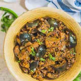 Kalonji Baingan Masala Recipe, Kalonji Wale Baingan, brinjal masala for chapati, baingan masala fry, kalonji masala recipe, baingan kki kalonji recipe